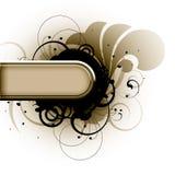 kwiecisty abstrakcjonistyczny sztandar Zdjęcia Stock