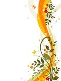 kwiecisty abstrakcjonistyczny tło Fotografia Royalty Free