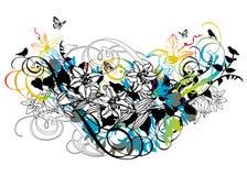 kwiecisty abstrakcjonistyczny tło Fotografia Stock
