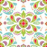 Kwiecisty adamaszkowy bezszwowy deseniowy tło Fotografia Royalty Free