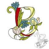 kwiecisty B list font2 ilustracji