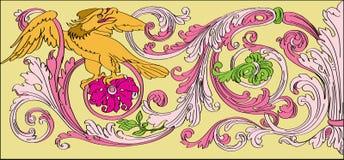 Kwiecisty baroku styl Zdjęcia Royalty Free