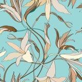 Kwiecisty bezszwowy tło. Abstrakcjonistycznego kwiatu Bezszwowa tekstura Obrazy Stock