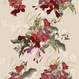 Kwiecisty bezszwowy wektoru wzór z kwiatami Obrazy Stock