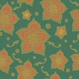 Kwiecisty bezszwowy wzór Fotografia Royalty Free
