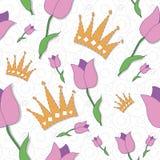 Kwiecisty bezszwowy wzór Zdjęcia Royalty Free
