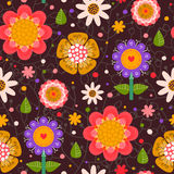 Kwiecisty bezszwowy wzór. Zdjęcie Stock