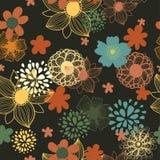 Bezszwowa tekstura z kwiatami Fotografia Stock