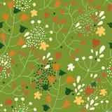 Bezszwowa tekstura z kwiatami Obraz Stock
