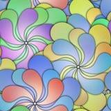 Kwiecisty bezszwowy wzór z 3d kwiatami royalty ilustracja