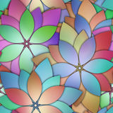 Kwiecisty bezszwowy wzór z 3d kwiatami ilustracja wektor