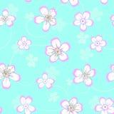 Kwiecisty bezszwowy wzór z kwiatami royalty ilustracja
