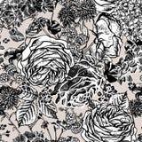 Kwiecisty bezszwowy wzór z kwitnącymi różami Zdjęcia Stock