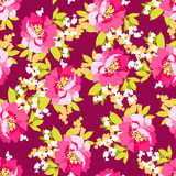 Kwiecisty bezszwowy wzór z różowymi kwiatami Zdjęcie Royalty Free