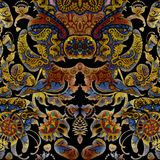 Kwiecisty ciemny abstrakcjonistyczny podławy barwiony tło Obrazy Royalty Free