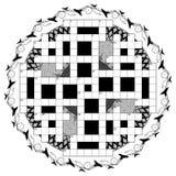 Kwiecisty crossword szablon Obrazy Stock