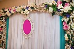 kwiecisty dekoracja ślub obraz royalty free