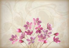 Kwiecisty dekoracyjny ślubu lub zaproszenia projekt ilustracji