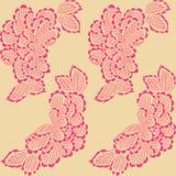 Kwiecisty dekoracyjny batikowy bezszwowy wzór Zdjęcie Stock
