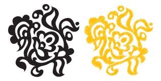 kwiecisty dekoracyjny element Obraz Royalty Free