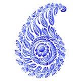 Kwiecisty dekoracyjny ornament Paisley Obrazy Royalty Free