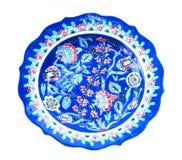 Kwiecisty dekoracyjny talerz Obrazy Royalty Free