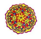 Kwiecisty dekoracyjny talerz Zdjęcie Royalty Free