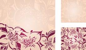 Kwiecisty dekoracyjny wakacyjny tło set Obrazy Stock