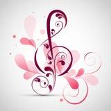 Kwiecisty dekorujący musicalu znak Obraz Stock