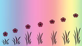 Kwiecisty deseniowy abstrakcjonistyczny tło Obraz Stock