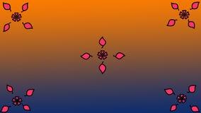 Kwiecisty deseniowy abstrakcjonistyczny tło Zdjęcie Royalty Free