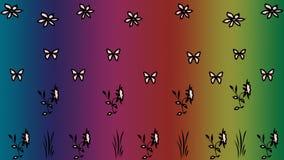 Kwiecisty deseniowy abstrakcjonistyczny tło Zdjęcia Stock