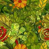 kwiecisty deseniowy bezszwowy wektor Obrazy Royalty Free