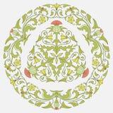 Kwiecisty deseniowy oset i bindweed ilustracji