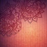 Rocznika Paisley ornamentu tło Obrazy Royalty Free