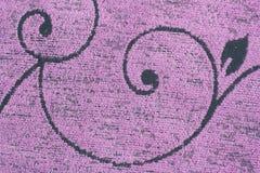 Kwiecista deseniowa tkaniny tekstura Zdjęcia Royalty Free