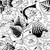 Kwiecisty doodle bezszwowy Zdjęcia Stock