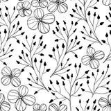 Kwiecisty doodle wzór Obraz Stock
