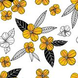 Kwiecisty doodle wzór Zdjęcie Royalty Free