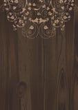 kwiecisty drewniany royalty ilustracja