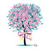 kwiecisty drzewo obrazy royalty free