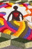 Kwiecisty dywan w Spello Obraz Stock