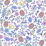 Kwiecisty Easter wzór royalty ilustracja