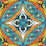 Kwiecisty etniczny stylowy kolorowy bezszwowy wzór Wektor ornamentacyjny ilustracja wektor