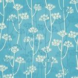 Kwiecisty gałęziasty bezszwowy wzór Zdjęcia Royalty Free