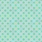 Kwiecisty Geometrical wzór w Zielonawych kolorach Zdjęcie Royalty Free