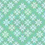 Kwiecisty Geometrical wzór w Zielonawych kolorach Obraz Royalty Free