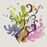 Kwiecisty i ornamentacyjny tło Obraz Royalty Free