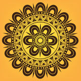 Kwiecisty kółkowy ornament Obrazy Stock