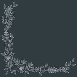 Kwiecisty karciany szablon Zdjęcia Royalty Free